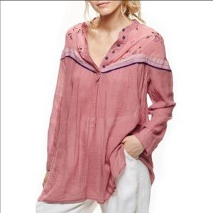 Free People Hearts & Colors Top